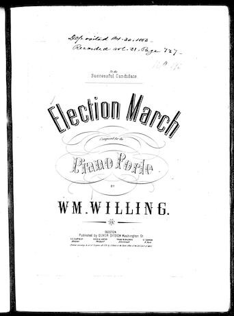 Election march [sheet music]
