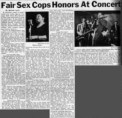 Fair Sex Cops Honors at Concert [clipping]