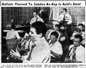 Ballads Planned to Subdue Be-bop in Auld's Band [clipping]