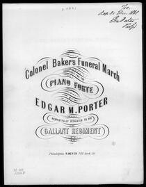 Colonel Baker's funeral march