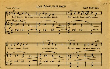 Look down fair moon
