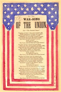 "War song of the Union. Air.--""The standard bearer."""