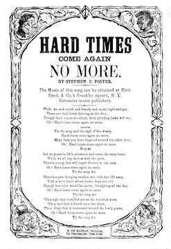Hard times come again no more. By Stephen C. Foster. H. De Marsan, Publisher, 54 Chatham Street, N. Y