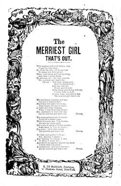 The merriest girl that's out. H. De Marsan, Publisher, 54 Chatham Street, N. Y
