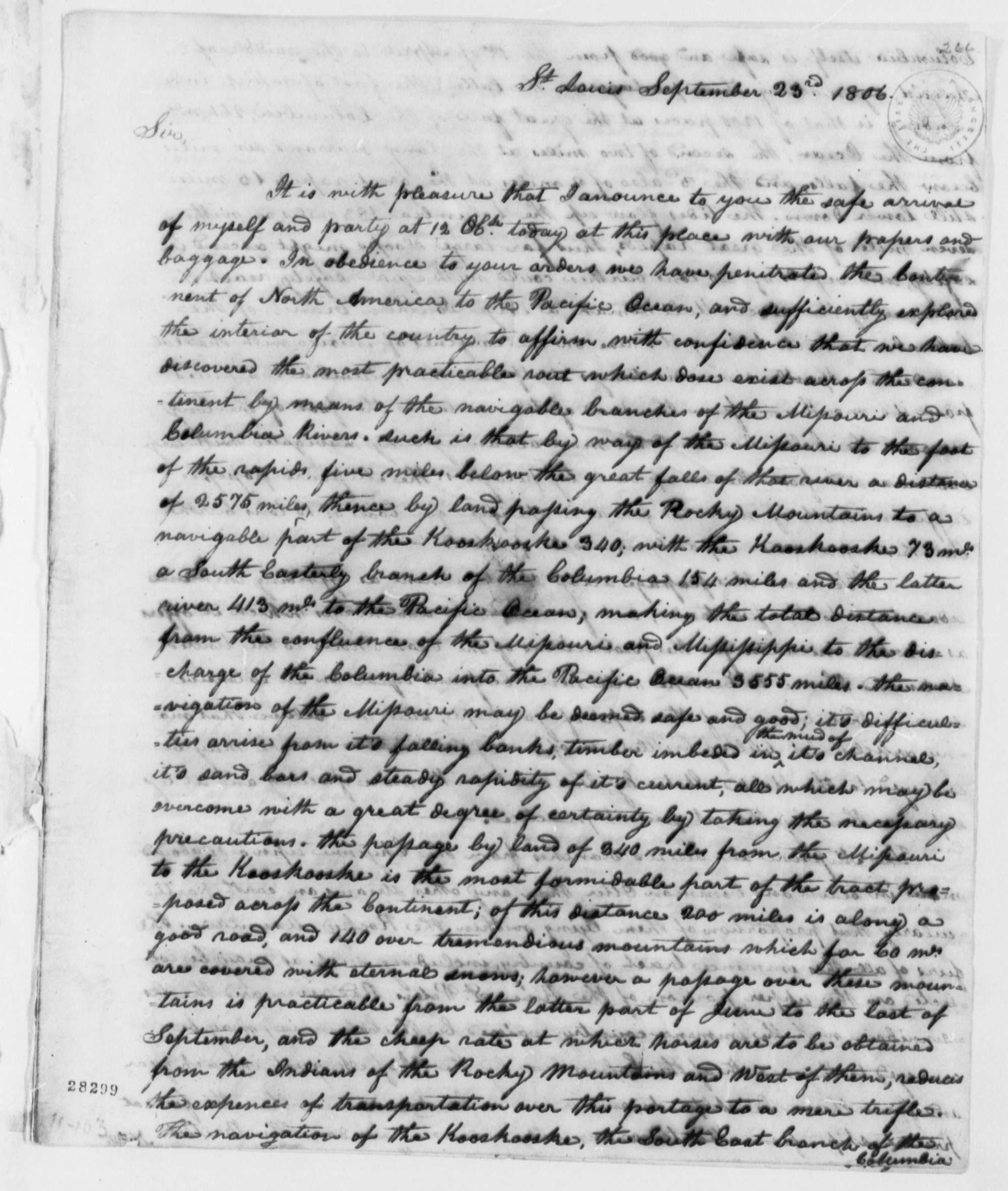 meriwether lewis to thomas jefferson library meriwether lewis to thomas jefferson 23 1806 library of congress