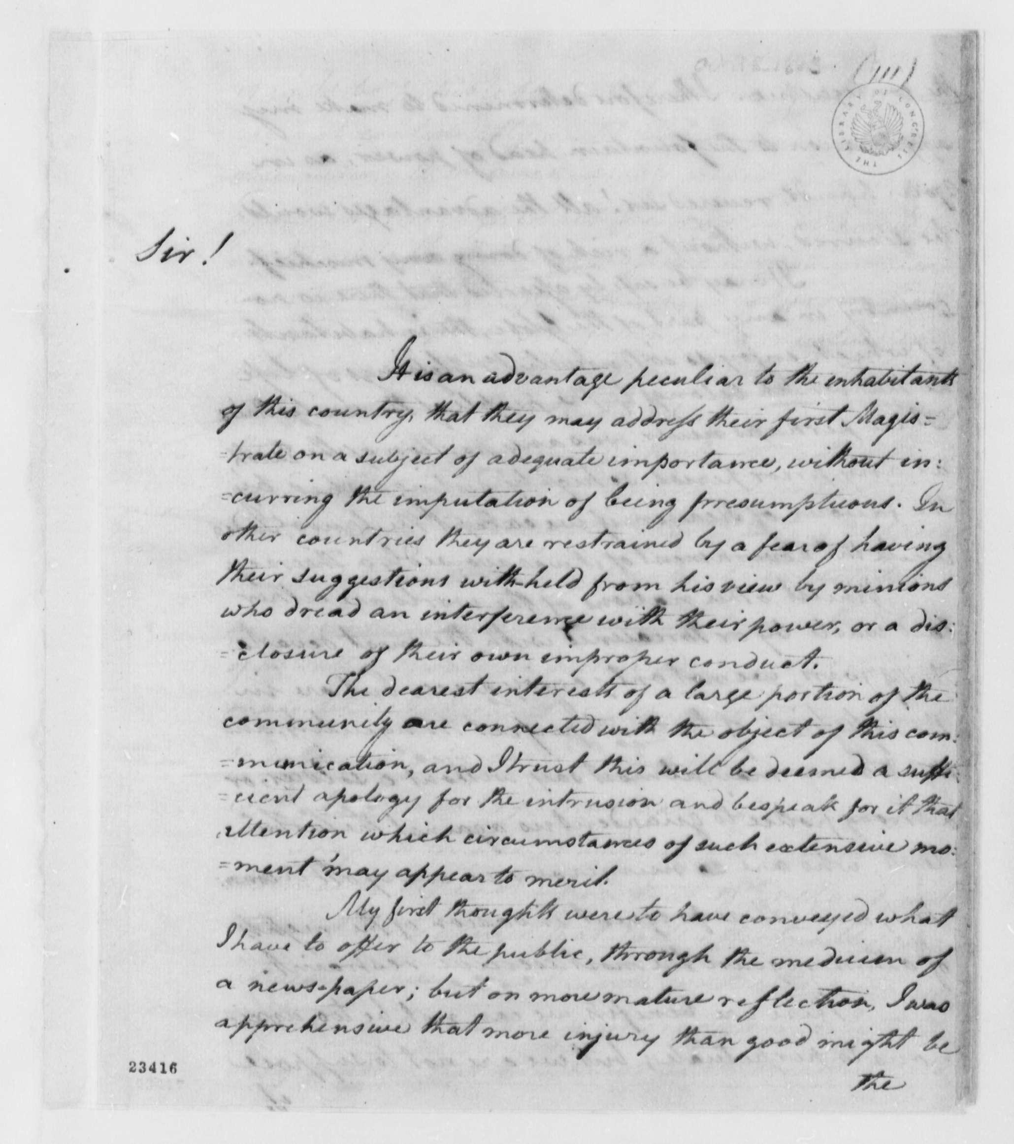 Congressional debate october 1803
