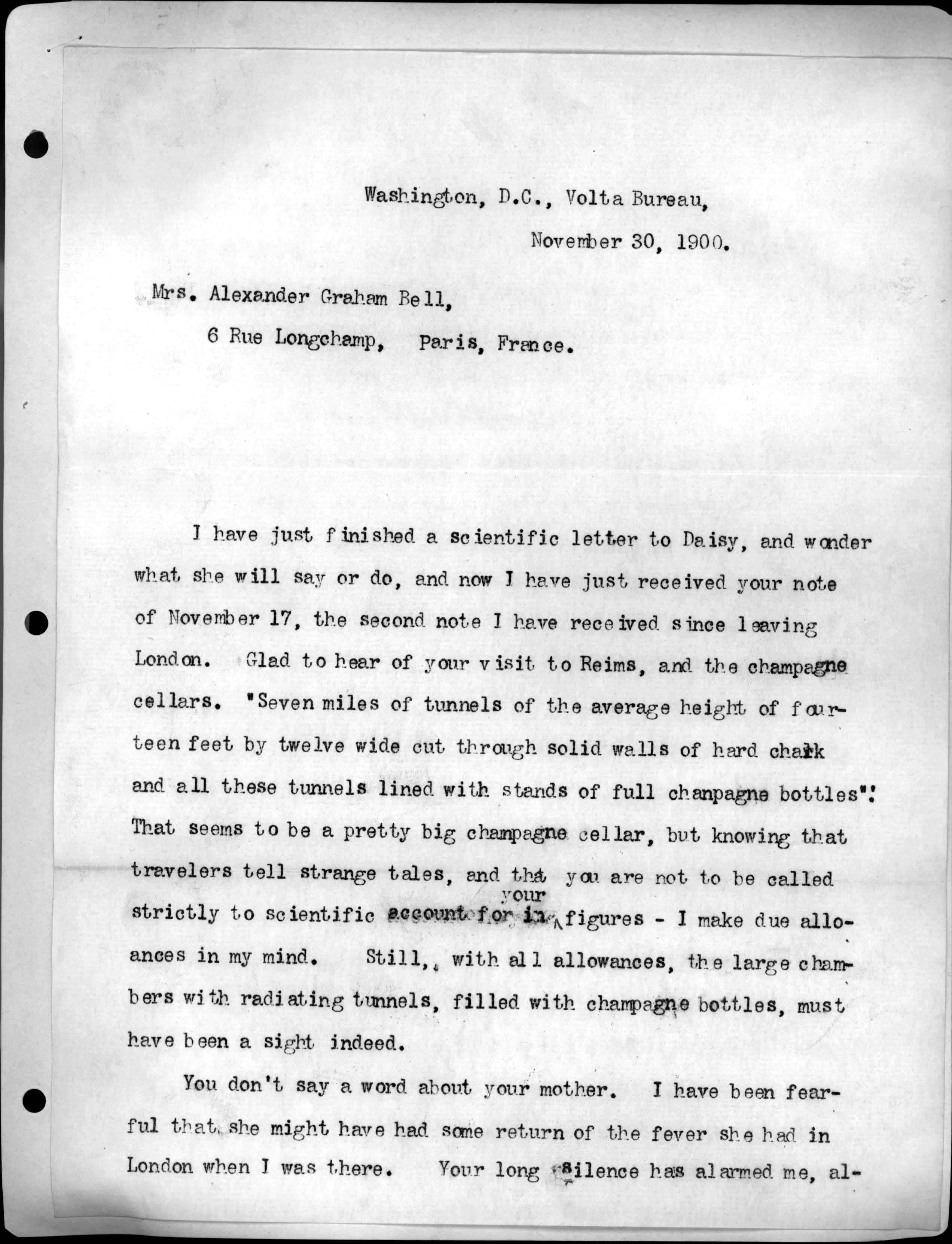 letter from alexander graham bell to mabel hubbard bell
