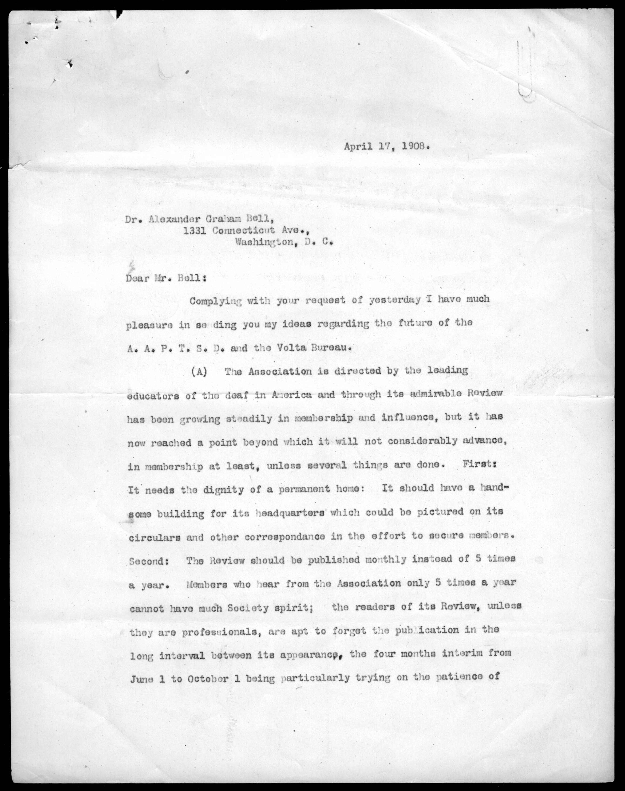 Alexander Graham Bell Family Papers at the Library of Congress