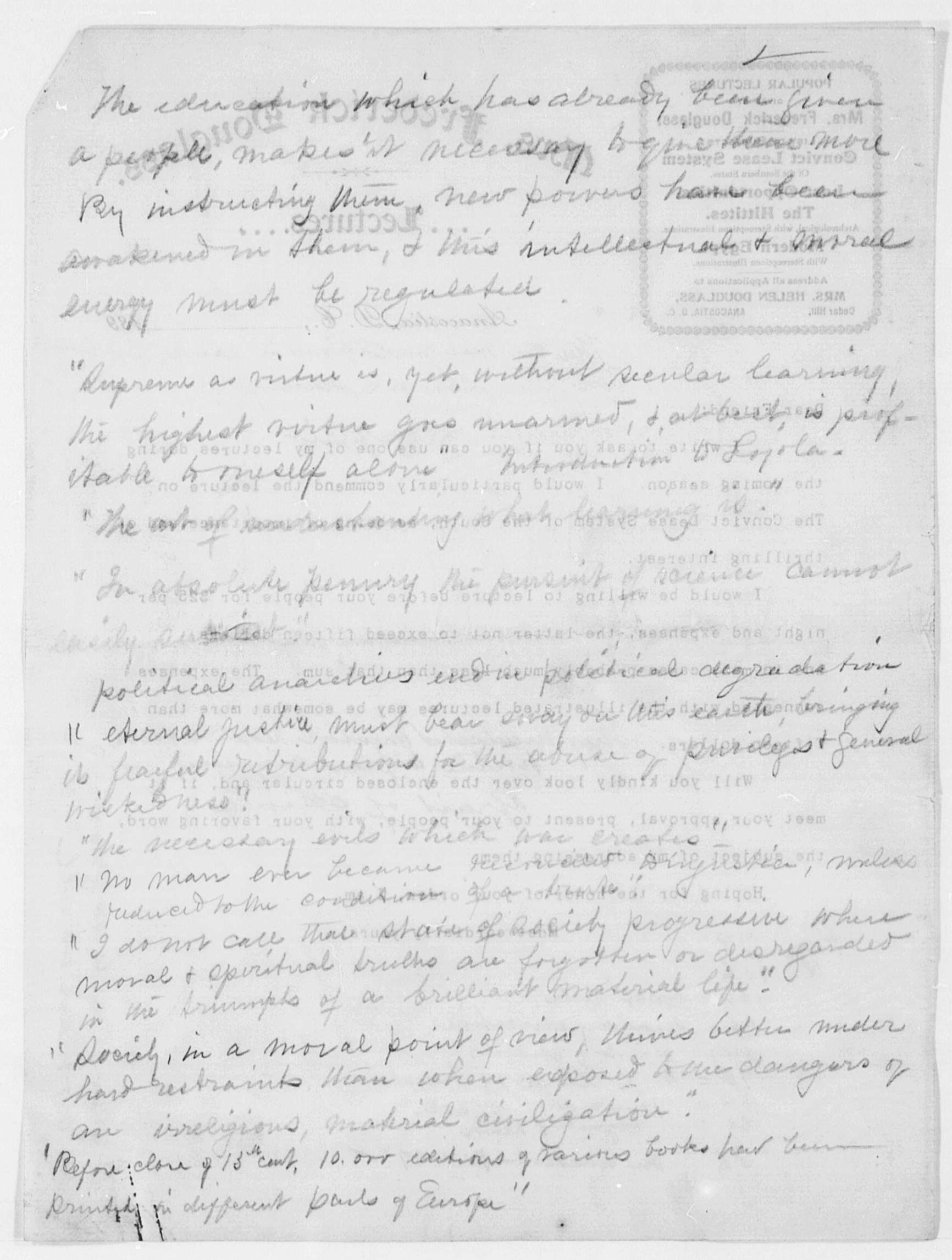essay of frederick douglass Frederick douglass's narrative of the life of frederick douglass essay frederick douglass' s autobiography narrative of the life of frederick douglass is a look into the life of a slave however, douglass was not a typical slave and his life was not that of the average slave during the 1800s.