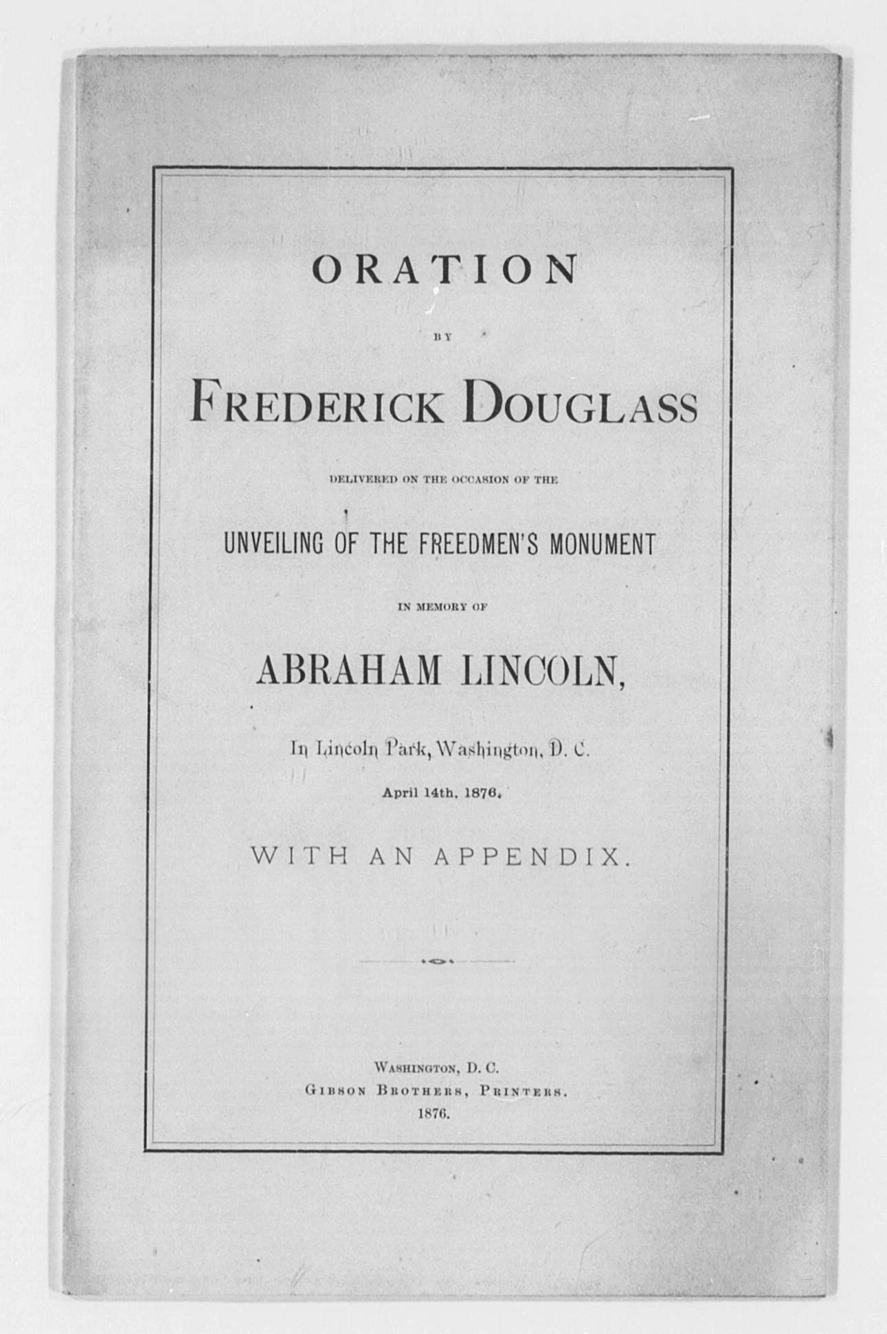 frederick douglass research papers