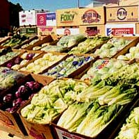 Produce Display at Yuma Lettuce Days, 1999