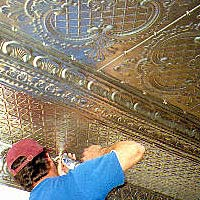 Copper-plate ceilings installed in &quot;Old Main&quot;