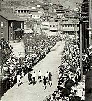 Footrace in 1908 during Bisbee's 4th of July celebration