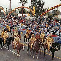 Bill Williams Mountain Men ride in the 1998 Fiesta Bowl Parade in Phoenix