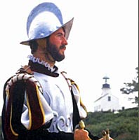 Actor portrays Cabrillo each year when his 1542 landing at San Diego bay is enacted