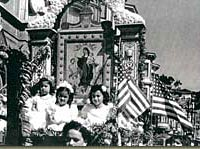 Parade float, late 1930s