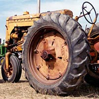 Vintage tractors on display at Lakewood Cider Days