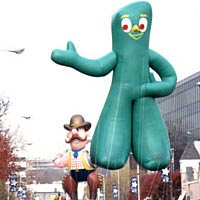Gumby balloon in 1999 Parade Spectacular