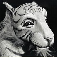 "Puppet character ""Tiger Andros"" from the American Puppet Theater production of Charter Oak"