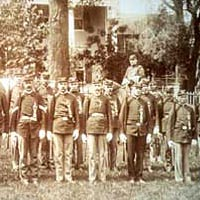 Sons of Veterans prepared for parade in 1898