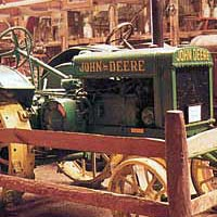 Antique John Deere Tractor in Durham Fair Farm