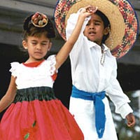 Children perform at 1999 festival
