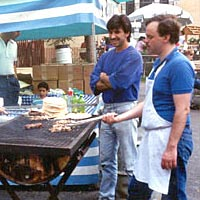 Cooking Greek food at the 1990 Festival