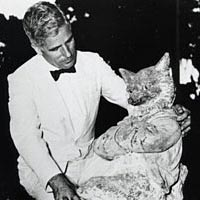 Hugh McKean with Fox, 1956