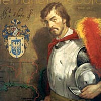 Portrait of Hernando de Soto, by his descendant Rafael de Soto, 1989