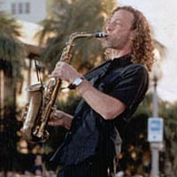 Musician Kenny G performs on the waterfront stage at SunFest 99