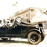 Decorated auto in 1922 Grand Carnival Parade