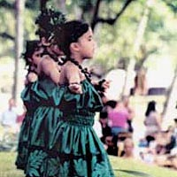 Students perform at 1999 Prince Lot Hula Festival