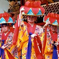 Okinawan Dancers, performing the Yotsutake, 1995