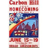 Early Carbon Hill Homecoming Poster