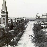 Looking west from Market Hall in Pullman, c. 1893