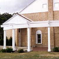 Village of Palos Park Hall with trellis donated by Palos Park Woman's Club