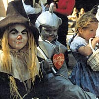 Costume judging, Harvest Homecoming stage, 1997