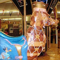 "Sea horse figure, winner of 1997-98 ""Design a Carousel"" contest"