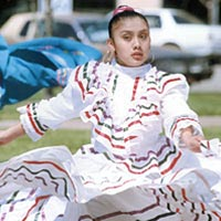 Graciela Santiago performs in Stevens Park, 1999