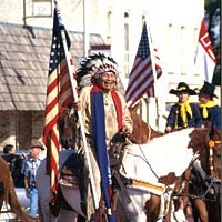 Chief Charles Little Coyote in Peace Treaty Parade