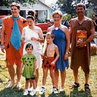 Members of Shady Grove Baptist Church as the Flintstones, September 1994