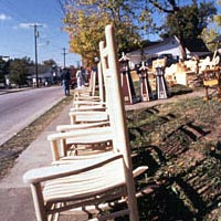 Hand-made chairs for sale, October 1999
