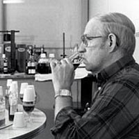 Master Distiller Gary Gayheart taste-tests bourbon at Ancient Age Distillery, 1989