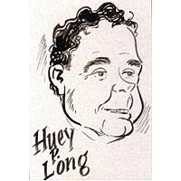 Caricature of Huey P. Long, Louisiana's most powerful politician