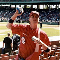 "Rob ""Nuts"" Barry, Fenway Park peanut vendor, May 1999"