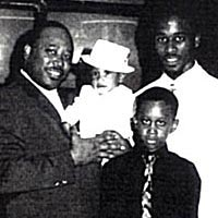 R.J. Watkins with his three sons