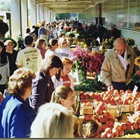 Shoppers at Royal Oak Farmers Market