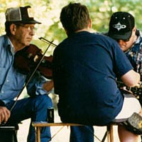 Bob Holt gives private lesson at Hammond Mill Camp