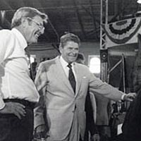 President Reagan visited the Missouri State Fair in 1984