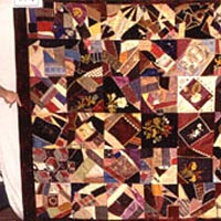 Crazy quilt made by Virginia Allen, Adams County, MS, 1885